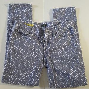 J. Crew Factory Polka Dot Toothpick Jeans
